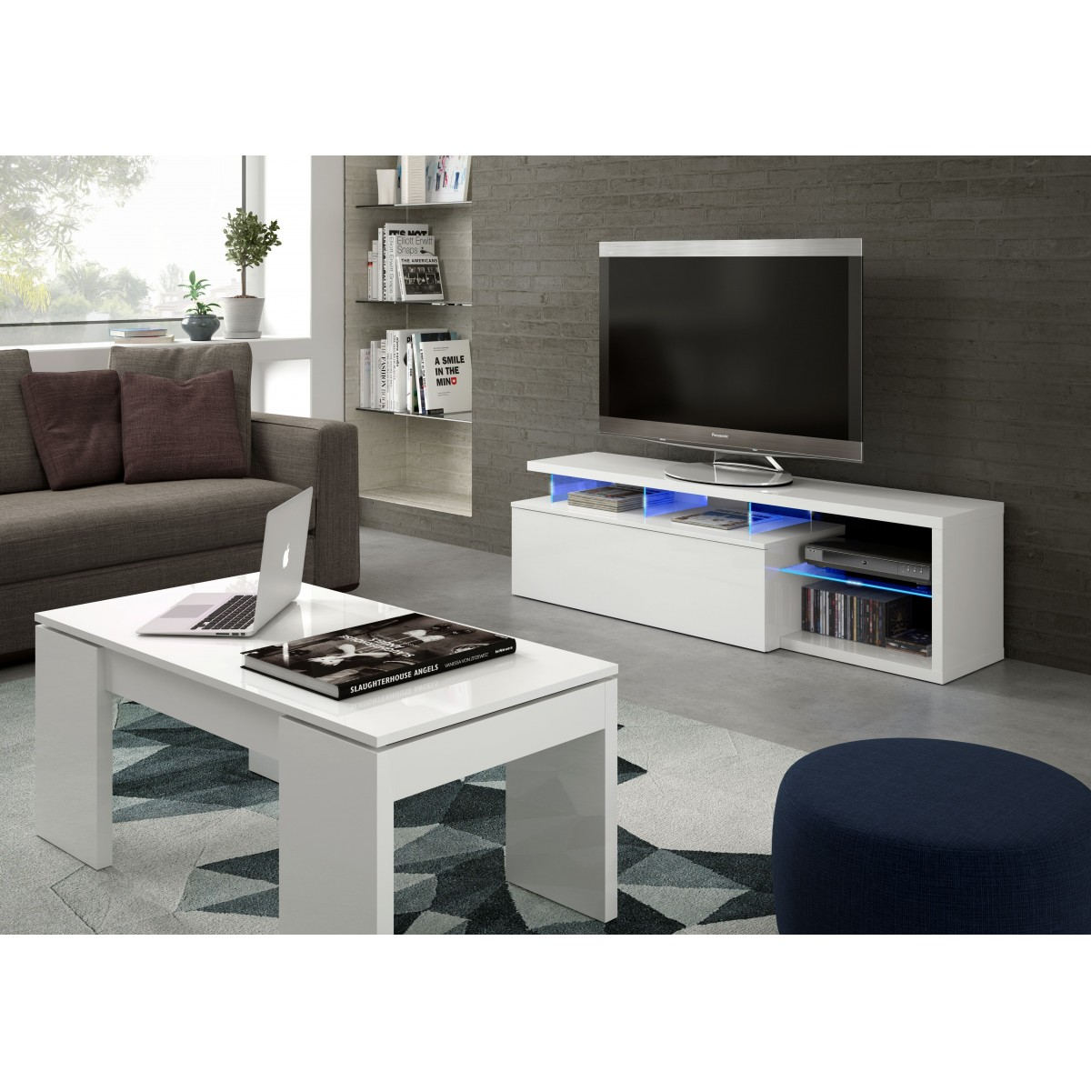 Muebles con leds mueble de saln medeo roble sonoma leds for Cocinas alfa bogota