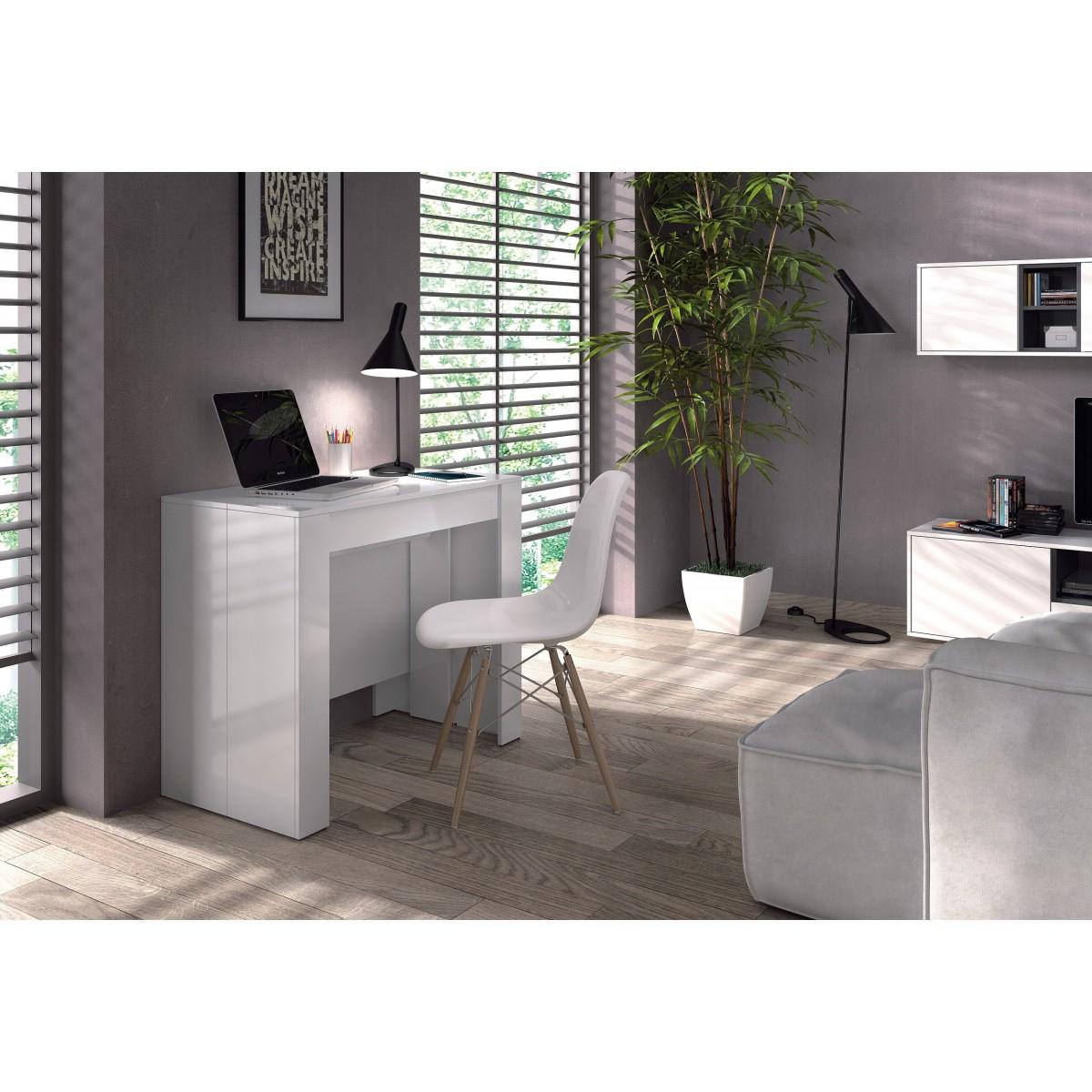 Mesa comedor consola extensible 5 posiciones mubeko - Mesas de comedor pequenas y extensibles ...