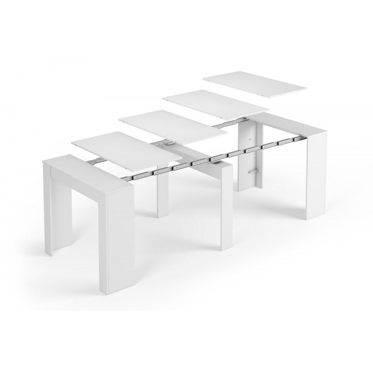 mesa comedor consola extensible 5 posiciones mubeko