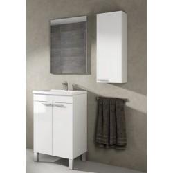 Mueble Lavabo Blanco + Espejo kit para montar economico