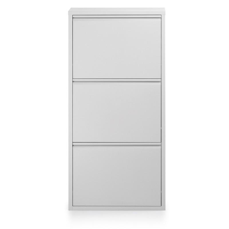 Zapatero 3 Puertas Blanco