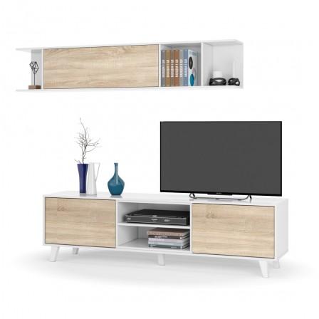 Mueble Salón Blanco - Roble Stylus Plus - Colección Nórdica