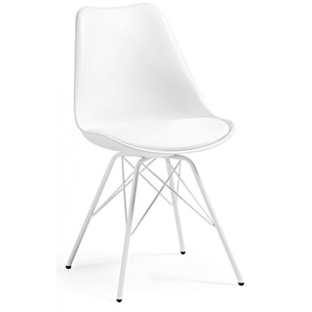 Silla Comedor Lars Estructura de Metal Color Blanco