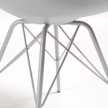 Silla Comedor Lars Estructura de Metal Color Gris