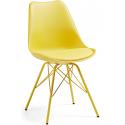 Silla Comedor Lars Estructura de Metal Color Amarillo