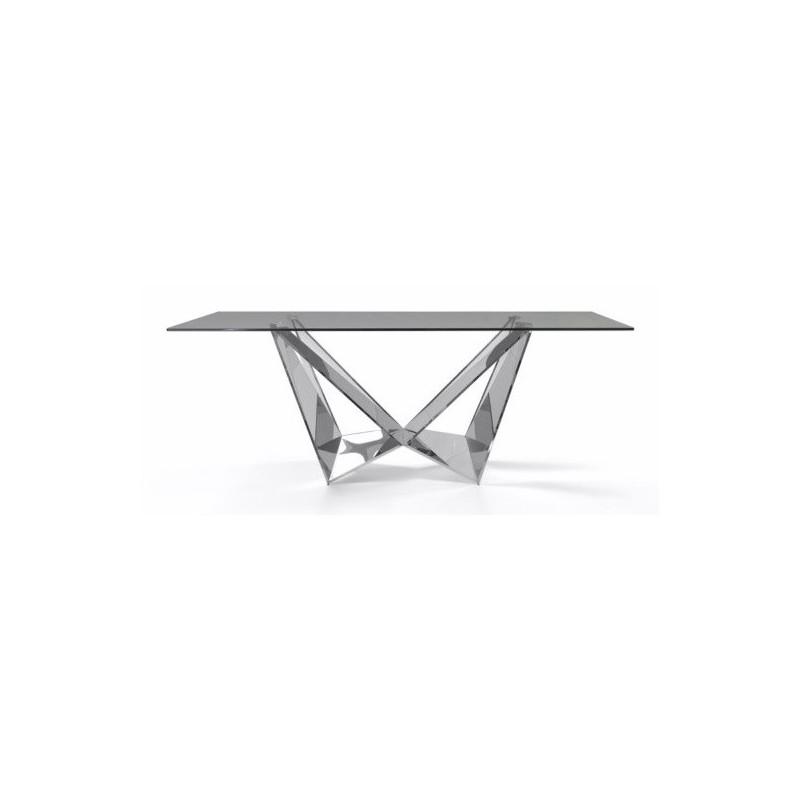 Mesa Comedor Diseño Estructura Cromada Modelo Kroma 200x100 | Mubeko