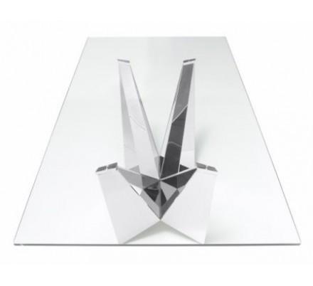 Mesa Comedor Diseño Estructura Cromada Modelo Kroma