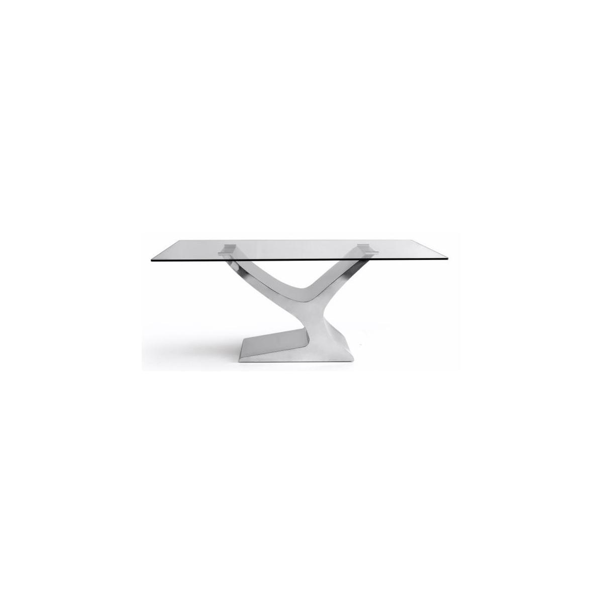 Mesa comedor cristal modelo esparta varias medidas mubeko for Cristal mesa a medida