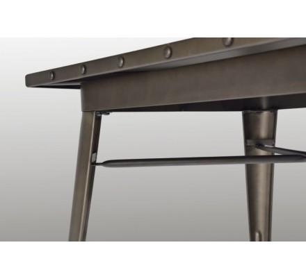 Mesa Cuadrada Acero Industrial Modelo Calabria - Varios Acabados