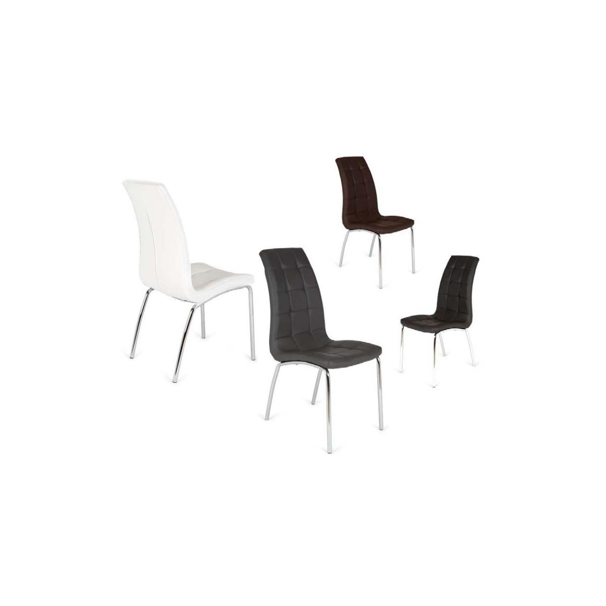 Pack silla comedor tapizada san sebastian 4 sillas mubeko for Pack sillas comedor