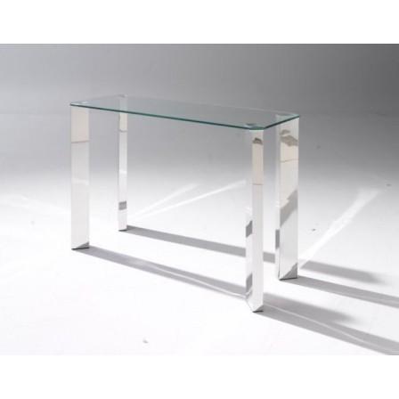 Consola Cristal-Acero Modelo Sapir 100x40