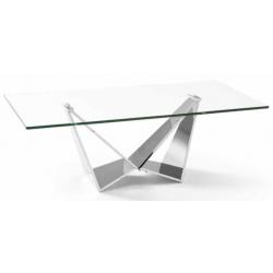 Mesa Centro Moderna Acero Inoxidable Pulido Modelo Nani