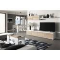 Composición de salón Moderno Modelo Home Color Roble y Blanco