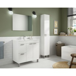Mueble Baño Aktiva 80 CM + Espejo + Lavabo