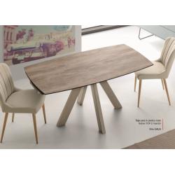 Mesa Comedor Extensible Modelo Toja Top 1 - Distintos Colores Acabado