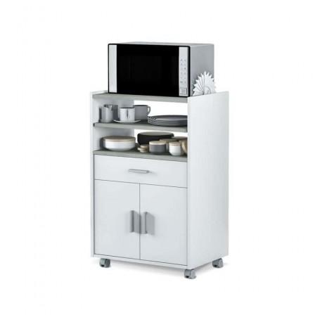 BASIC Mueble microondas 1c+2p Blanco Artik-Cemento
