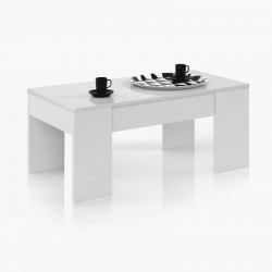 Mesa de Centro Elevable Flow BLANCO BRILLO