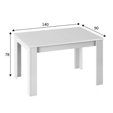 Mesa Comedor Extensible Práctico 140x90