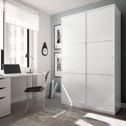 Armario 2 Puertas corredera Blanco Brillo 200x120x50