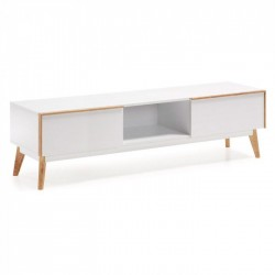 MUEBLE TV MODELO MEETY 2 CAJONES  DM LACADO BLANCO MATE 150X45