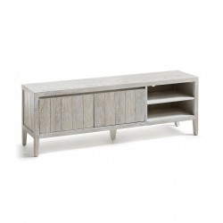 MUEBLE TV WOODY MADERA DE PINO BLANCO PATINA 160X55