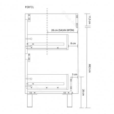 Mueble Lavabo + Espejo Dakota - Mueble kit - Barato