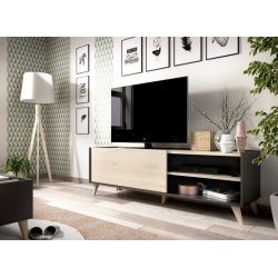 Mueble Bajo TV Ness  47 x 155 color Grafito / Natural