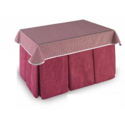 Mesa Camilla Modelo Rocky de 110x70 o 120x70 con Enaguas Incluidas