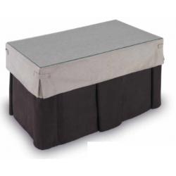 Mesa Camilla Modelo Rocky de 110x70 o 120x70 Color chocolate y tapete especial tableado incluido