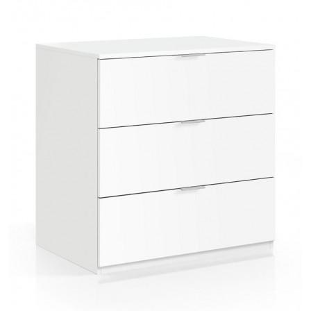 Cómoda 3 Cajones Low Cost Color Blanco