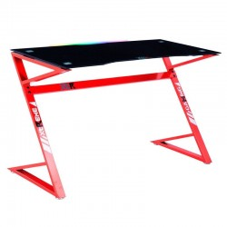Mesa Gamer XT03 LED RGB Color Rojo / Carbono 120x60