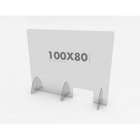 Mampara Protección 100x65 Metacrilato Covid 19