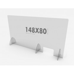 Mampara Protección 148x80 Metacrilato Covid 19