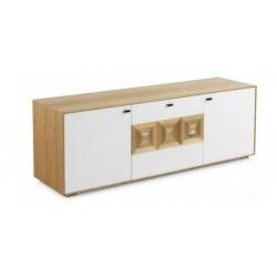 Composicion ARGOTES en color sable / blanco de 290,2 x 190,5 x 39,9 cm