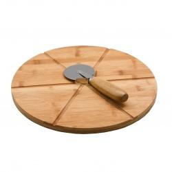 TABLA PIZZA CON CORTAPIZZAS - Imagen 1