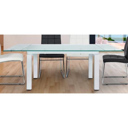 Mesa Salón/Comedor Extensible Girona - Color Blanco - 140/200x76