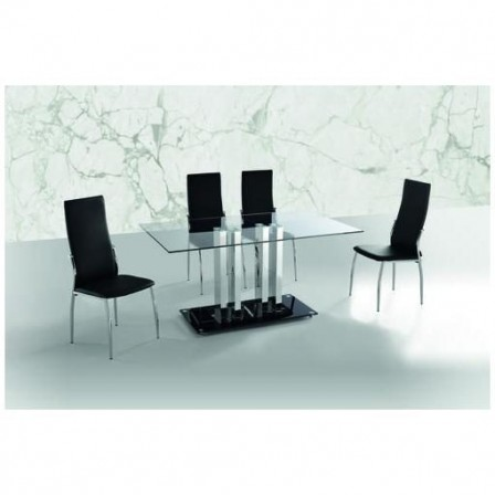 Mesa Comedor Modelo Trinidad Cristal 150x190