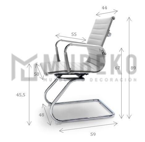 Medidas silla confidente Clhoe Smart-V Mubeko