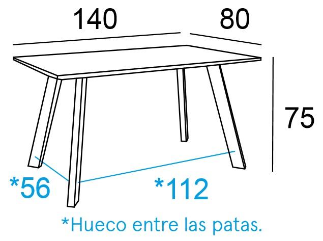 Mesa Comedor Cambria 140x80 Modelo Krisis | Mobelfy
