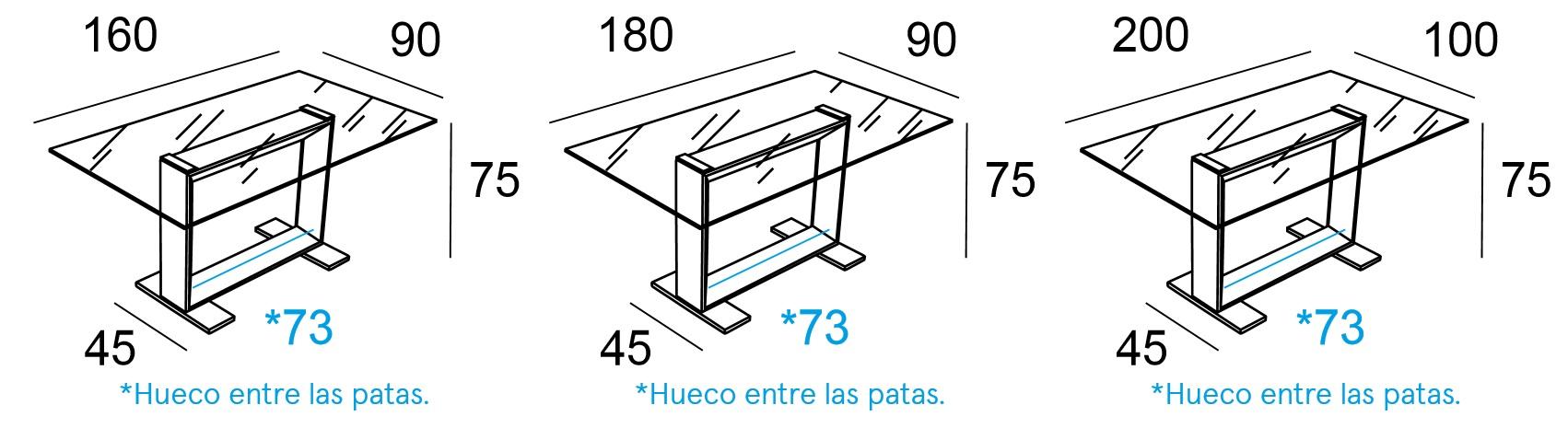Mesa Comedor Estructura Cromada Modelo Kubic | Mubeko