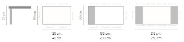 Mesa comedor extensible modelo Creta Mate 1 ALA
