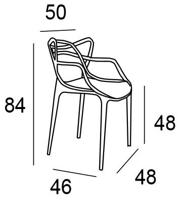 Silla comedor dise o modelo popper varios colores mubeko for Medidas silla comedor
